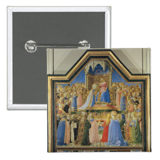Coronation of the Virgin, c.1430-32 Pinback Button