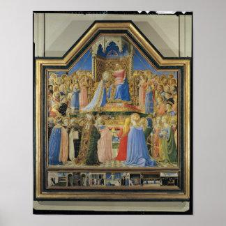Coronation of the Virgin, c.1430-32 Poster