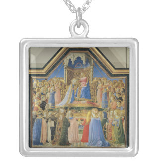 Coronation of the Virgin, c.1430-32 Silver Plated Necklace