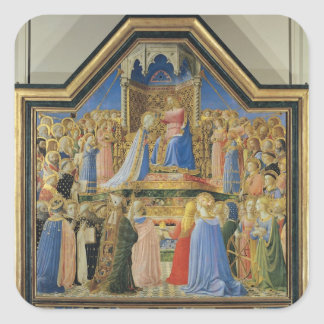 Coronation of the Virgin, c.1430-32 Square Sticker
