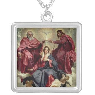 Coronation of the Virgin, c.1641-42 Silver Plated Necklace