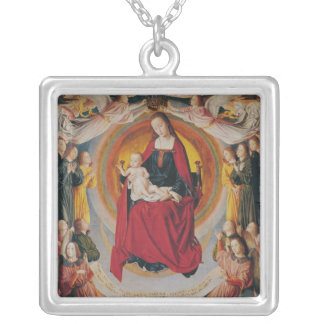 Coronation of the Virgin, centre panel Silver Plated Necklace
