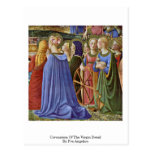 Coronation Of The Virgin Detail By Fra Angelico Post Cards