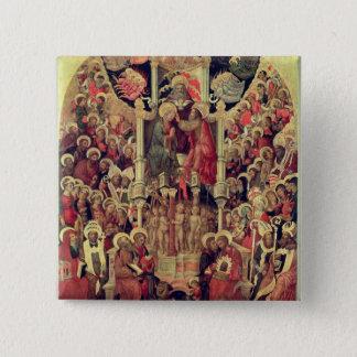 Coronation of the Virgin Pinback Button