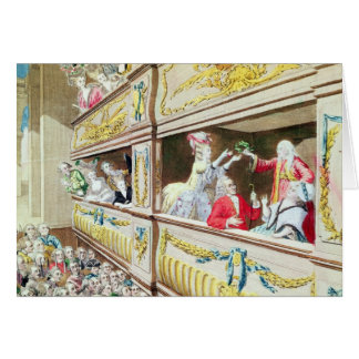 Coronation of Voltaire at the Theatre Francais Greeting Card