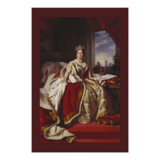 Coronation Portrait of Queen Victoria Poster