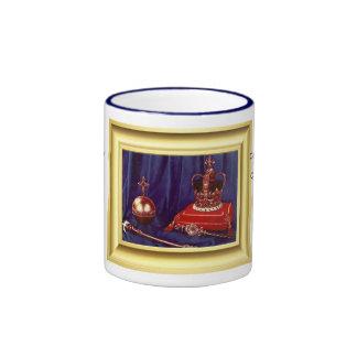 Coronation Regalia of Queen Elizabeth II Ringer Mug