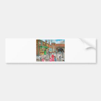 Coronation Street oil painting Bumper Sticker