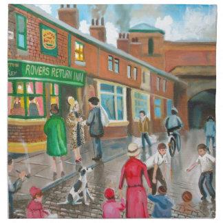 Coronation Street oil painting Cloth Napkin