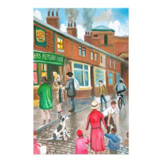 Coronation Street oil painting Stationery