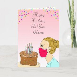 Coronavirus Birthday Wishes Card