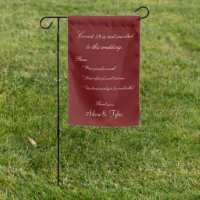 Coronavirus Covid-19 Wedding Burgundy Safety Sign