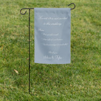 Coronavirus Covid-19 Wedding Dusty Blue Safety Garden Flag