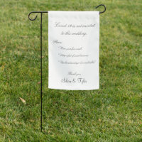 Coronavirus Covid-19 Wedding White Gray Safety Garden Flag