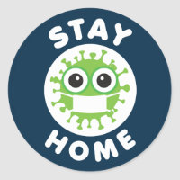 CoronaVirus Stay Home Sticker