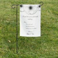 Coronavirus Wedding White Floral Safety Sign
