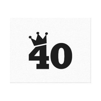 Corone el 40.o cumpleaños impresion de lienzo