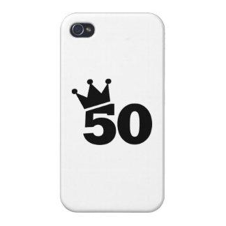 Corone el 50.o cumpleaños iPhone 4 funda