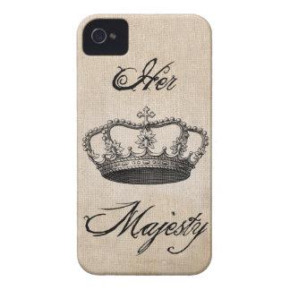 """Corone """"su majestad """" Case-Mate iPhone 4 protectores"""
