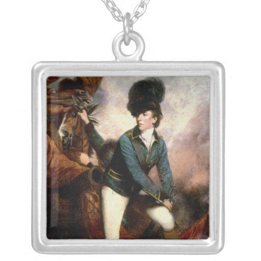 Coronel Banastre Tarleton 1782 Colgante Cuadrado