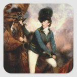 Coronel Banastre Tarleton 1782 Pegatina Cuadrada