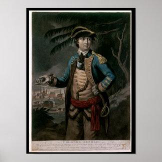 Coronel Benedicto Arnold, pub. Londres, 1776 Póster