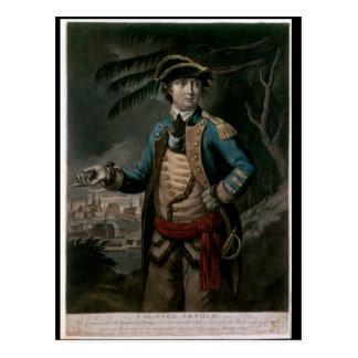 Coronel Benedicto Arnold, pub. Londres, 1776 Postal