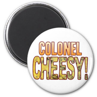 Coronel Blue Cheesy Imán Redondo 5 Cm