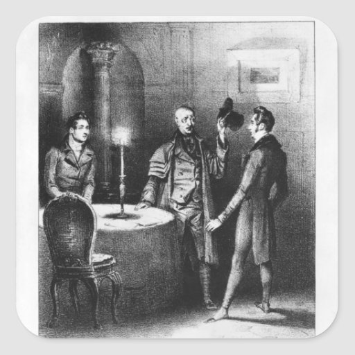 Coronel Chabert, ejemplo 'Le Coronel Calcomanías Cuadradass