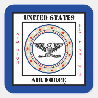 Coronel COL O-6 de la fuerza aérea Pegatina Cuadrada