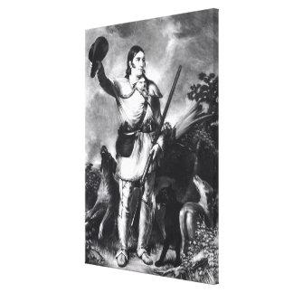 Coronel Davy Crockett Impresión En Lona