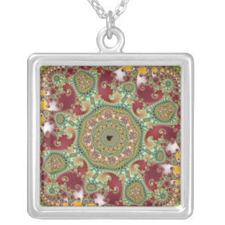 Coronel - Fractal Silver Plated Necklace