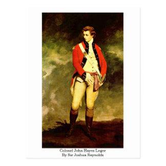 Coronel John Hayes Leger de sir Joshua Reynolds Postal