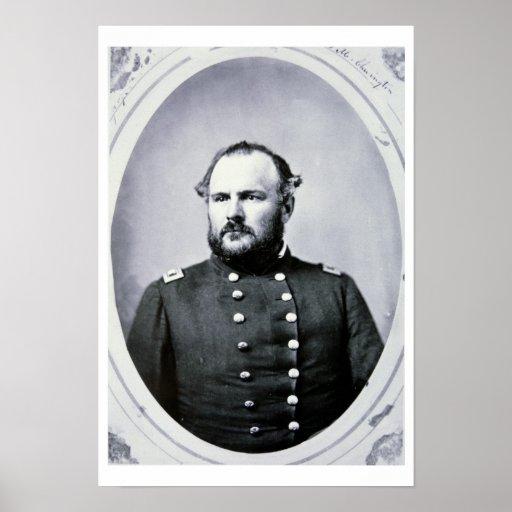 Coronel Juan M. Chivington (foto de b/w) Poster