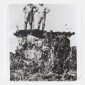 Coronel Roosevelt y coronel Rondon en Navaite Pegatina Cuadrada