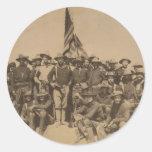 Coronel Roosevelt y su Rough Riders Etiqueta Redonda