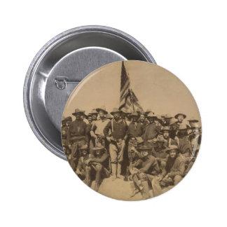 Coronel Roosevelt y su Rough Riders Pin Redondo De 2 Pulgadas
