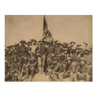 Coronel Roosevelt y su Rough Riders Postales