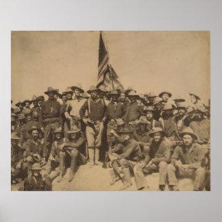 Coronel Roosevelt y su Rough Riders Póster