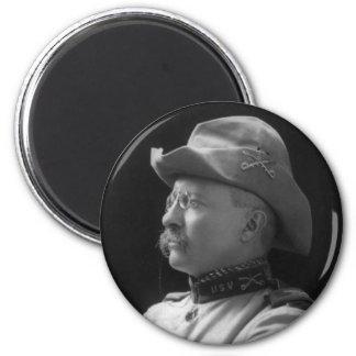 Coronel Theodore Roosevelt a partir de 1898 Imán Redondo 5 Cm
