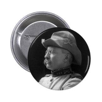 Coronel Theodore Roosevelt a partir de 1898 Pin Redondo De 2 Pulgadas