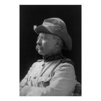 Coronel Theodore Roosevelt a partir de 1898 Póster