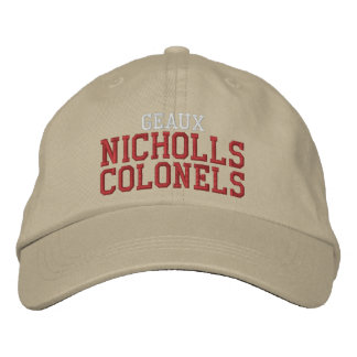 coroneles de Nicholls del geaux Gorra De Beisbol Bordada