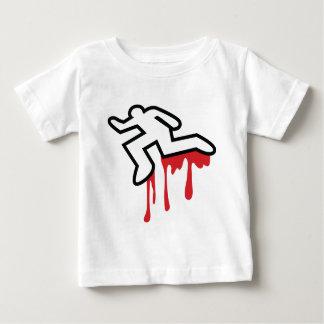 Coroner outline  dead body murder baby T-Shirt