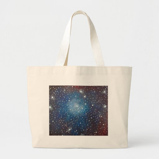 Coronet Cluster Nebula Space Art Pointillism Tote Bags