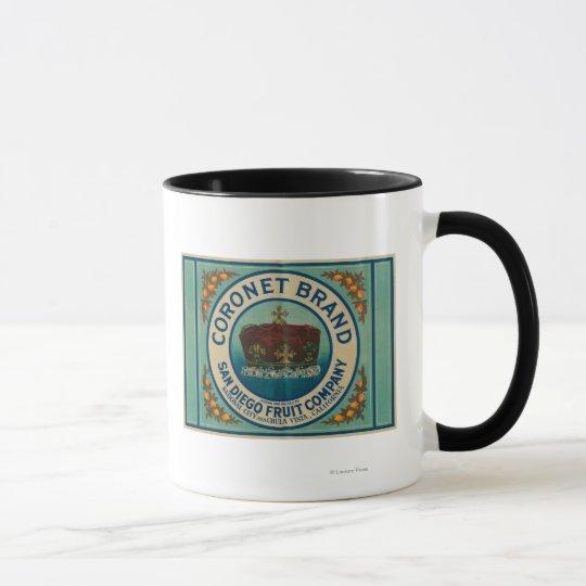 Coronet Lemon LabelChula Vista, CA Mug