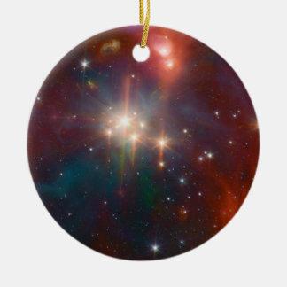 Coronet star cluster ceramic ornament