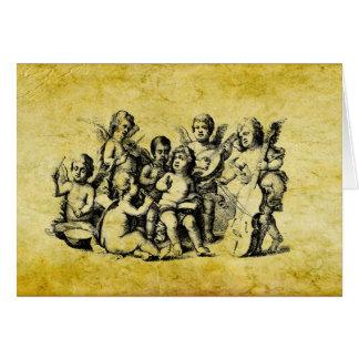 Coros de la tarjeta de encargo V1 de los ángeles