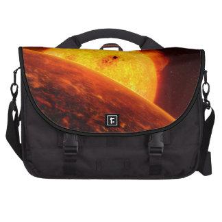 Corot-7B Space Art Illustration Laptop Messenger Bag