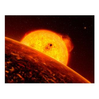 Corot-7B Space Art Illustration Postcard